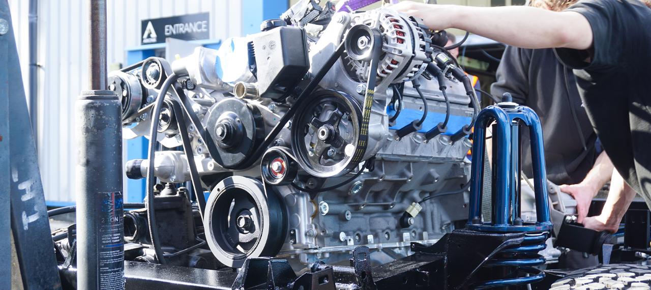 An LS3 Corvette 6.2L engine