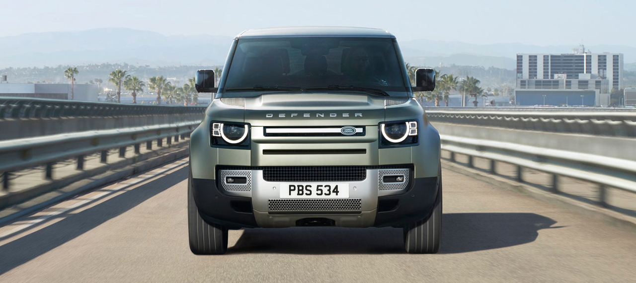 Front view of new Defender