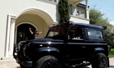 Luis Fonsi takes delivery of his Arkonik Defender in Miami, Florida USA