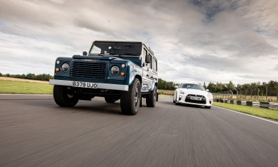 ARKONIK LS3 Defender vs Nissan GT-R at Castle Combe circuit