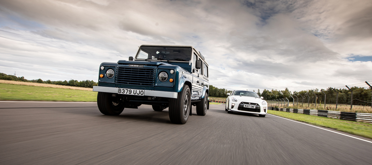 Our LS-engined 110CSW vs a Nissan GT-R on track