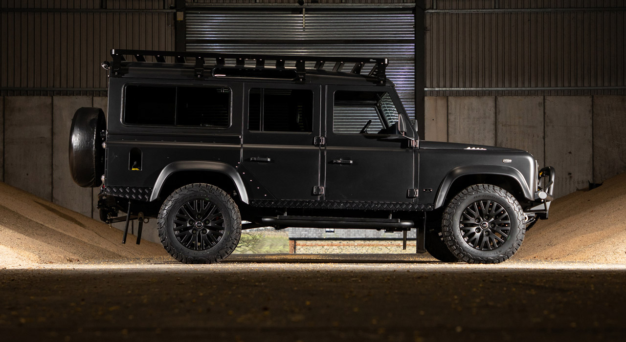 BISON | Land Rover Defender 110 by Arkonik | side view