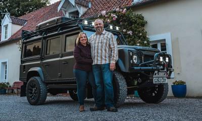 Gerri & Chris take delivery of their CELTIC Defender in France