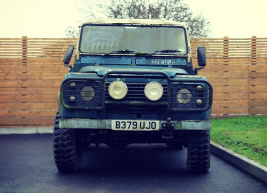 Andy Hayes' first Defender