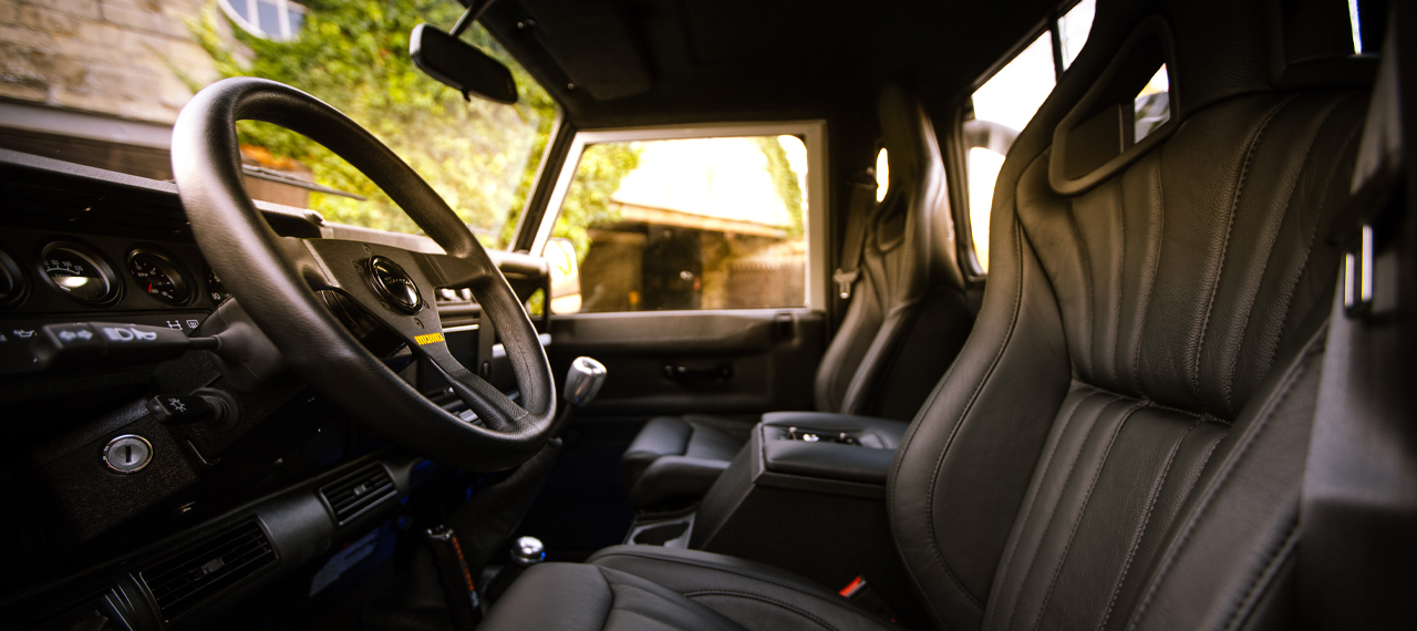 Single cab pick-up interior with momo steering wheel