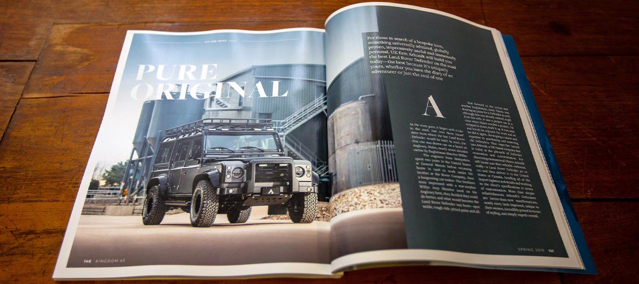 Kingdom Magazine Arkonik feature double page spread