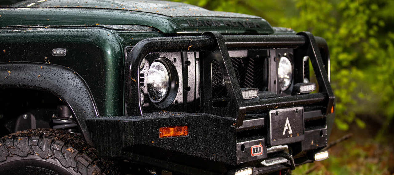 Close up of Defender with ARB bumper