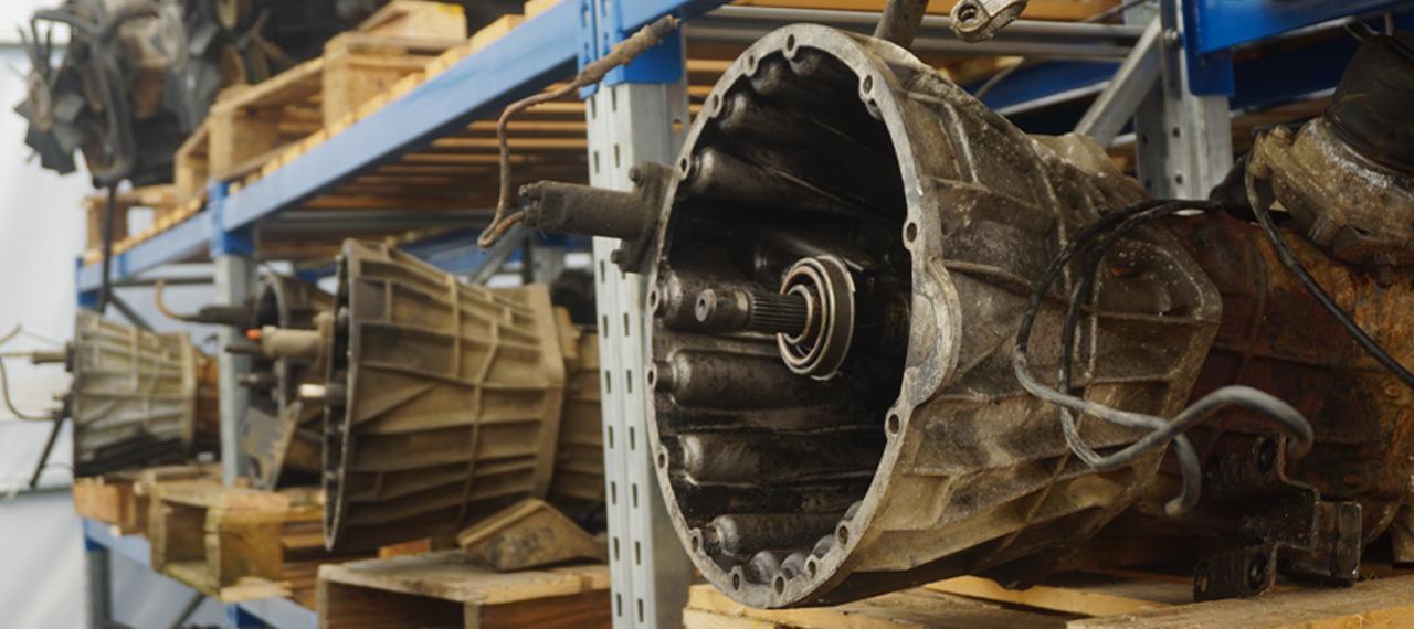 Row of engines at Arkonik awaiting restoration