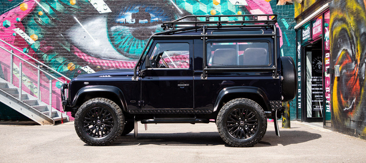 Side view of Mariana Black Pearl Defender 90