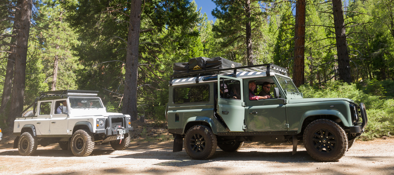 Two Arkonik Defenders in the Eldorado National Forest