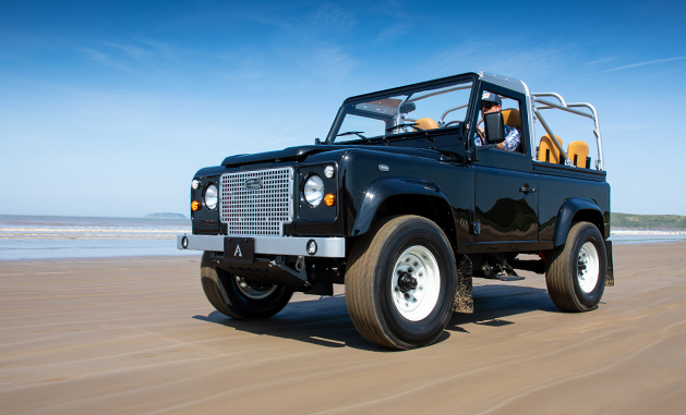 Arkonik So-Cal D90 driving on the beach.