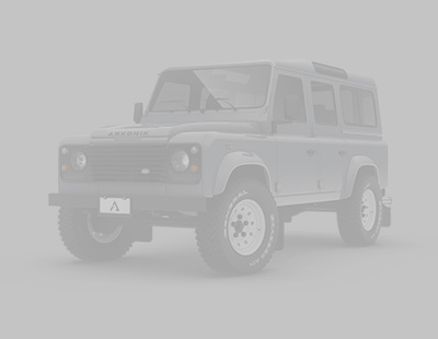 Front view of a Corris Grey Defender 110 by Arkonik
